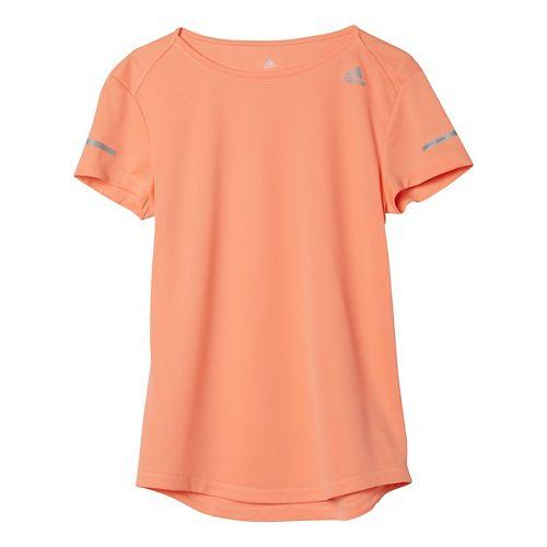 Womens adidas Sequencials Money Tee Short Sleeve Technical Tops - Sun Glow L