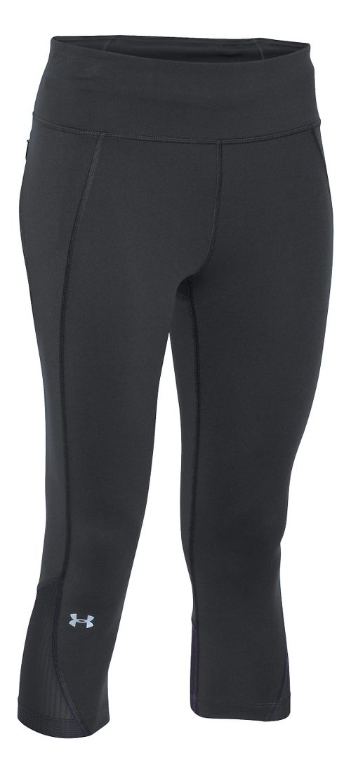 Womens Under Armour Fly by Run Capri Pants - Black S