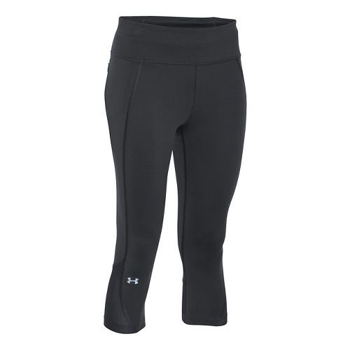 Womens Under Armour Fly by Run Capri Pants - Black M