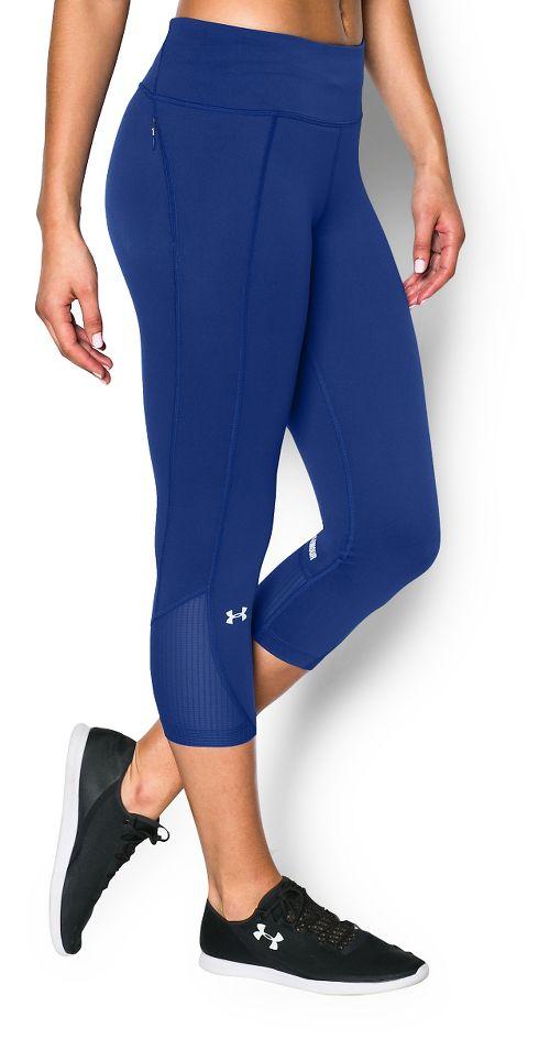 Womens Under Armour Fly by Run Capri Pants - Cobalt XL