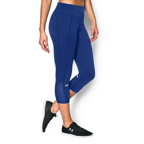 Womens Under Armour Fly by Run Capri Pants - Cobalt M