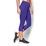 Womens Under Armour Fly by Run Capri Pants - Deep Orchid XS