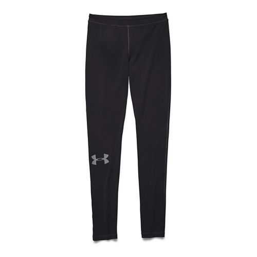 Womens Under Armour Rival Leggings Tights - Black/Steel XS