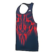 Mens adidas adiZero Singlet Tank Technical Tops