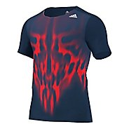 Mens adidas adiZero Tee Short Sleeve Technical Tops
