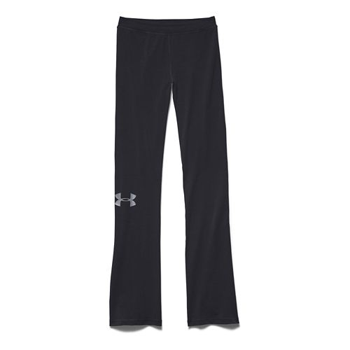 Womens Under Armour Rival Pants Full Length Pants - Black/Steel XS