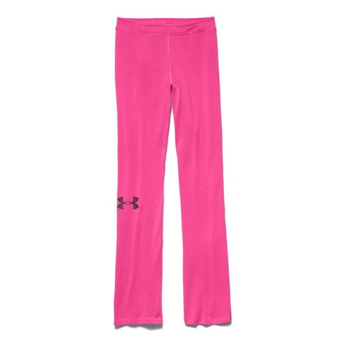 Womens Under Armour Rival Pants Full Length Pants - Rebel Pink XL