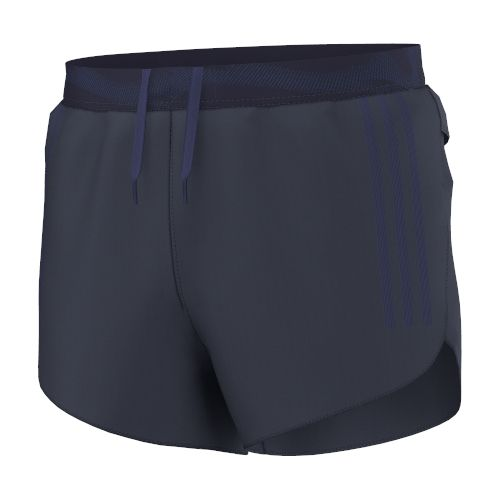 Mens adidas adiZero Split Unlined Shorts - Midnight Grey S