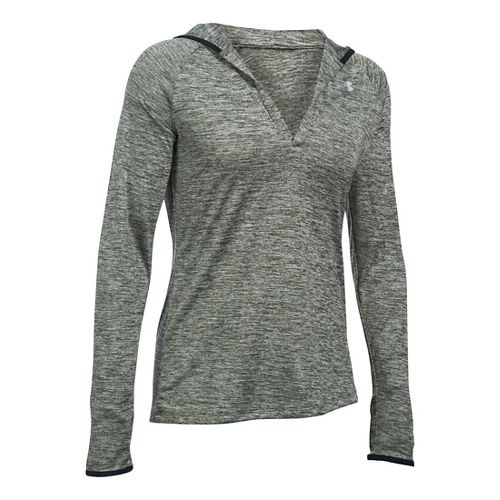 Womens Under Armour Twist Tech Hoody Long Sleeve No Zip Technical Tops - Black M ...