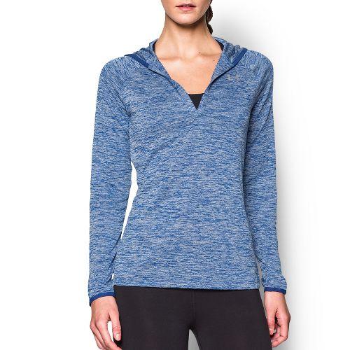 Womens Under Armour Twist Tech Hoody Long Sleeve No Zip Technical Tops - Cobalt XL ...