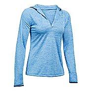 Womens Under Armour Twist Tech Long Sleeve Half-Zips & Hoodies Technical Tops - Water XS