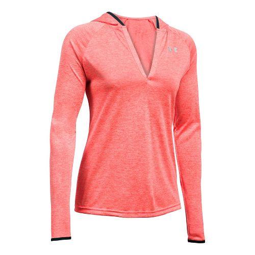 Womens Under Armour Twist Tech Long Sleeve Half-Zips & Hoodies Technical Tops - Marathon Red XS