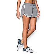 Womens Under Armour Tech Compression & Fitted Shorts - Heather/White S