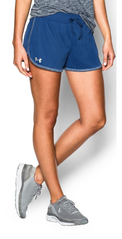 Womens Under Armour Tech Compression & Fitted Shorts - Cobalt M
