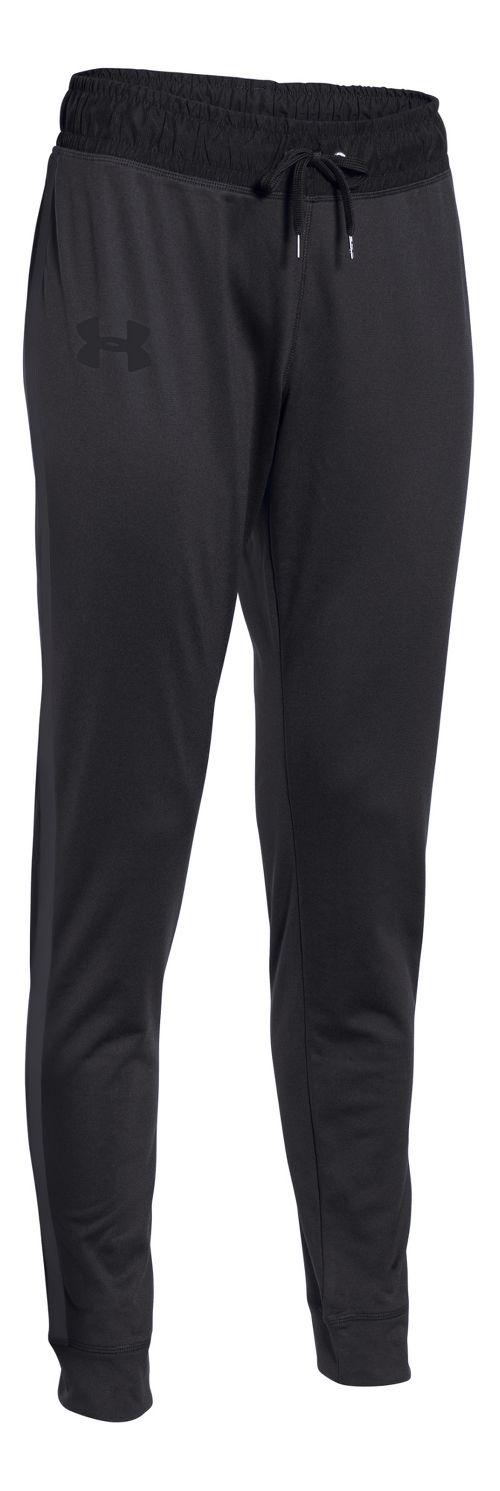 Womens Under Armour Challenge Knit Full Length Pants - Black/Black L