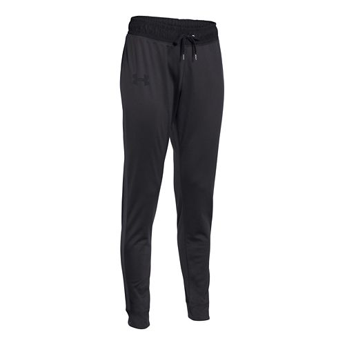 Womens Under Armour Challenge Knit Full Length Pants - Black/Black L