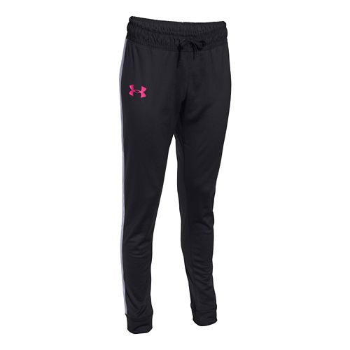 Womens Under Armour Challenge Knit Full Length Pants - Black/Rebel Pink L