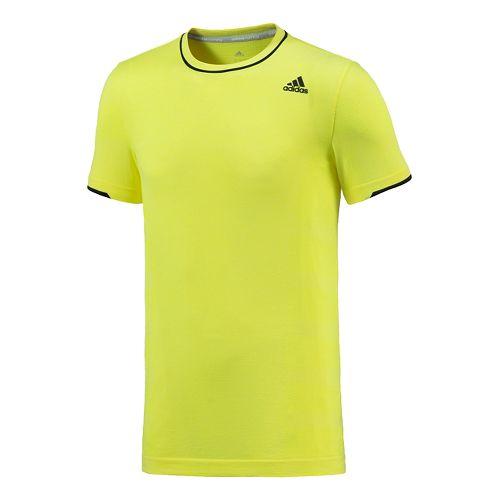Mens adidas Adistar Wool Primeknit Tee Short Sleeve Technical Tops - Yellow L