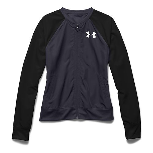 Womens Under Armour Fanatical Woven Warm Up Hooded Jackets - Grey/Black M