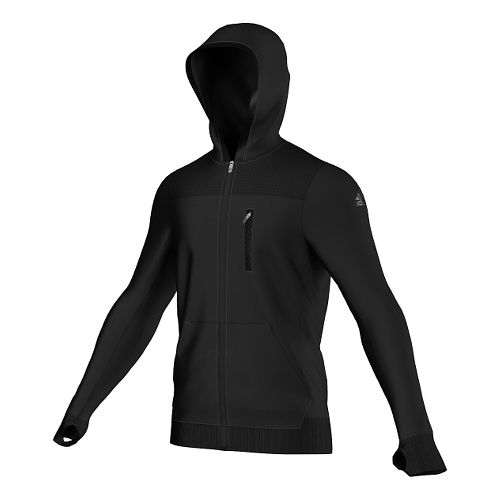 Mens Adidas City Energy Hoodie Outerwear Jackets - Black L