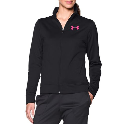 Womens Under Armour Rival Warm Up Hooded Jackets - Black XL
