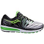 Mens Saucony Hurricane ISO 2 Running Shoe - Black/Green 8.5