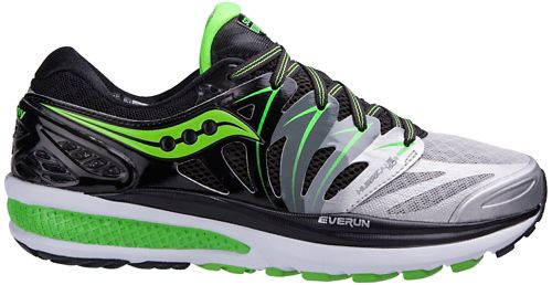 Mens Saucony Hurricane ISO 2 Running Shoe - Black/Green 11.5