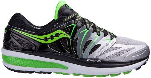 Mens Saucony Hurricane ISO 2 Running Shoe - Black/Green 8