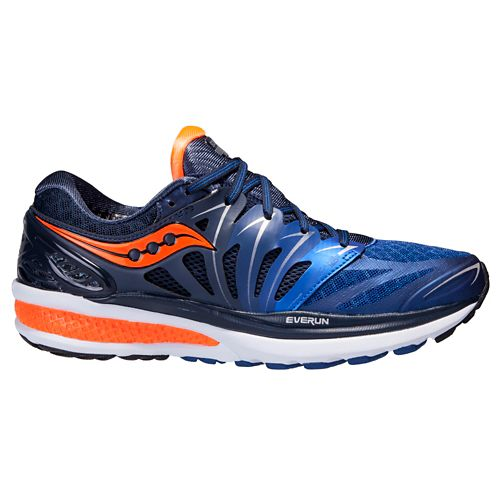 Mens Saucony Hurricane ISO 2 Running Shoe - Blue/Orange 11.5