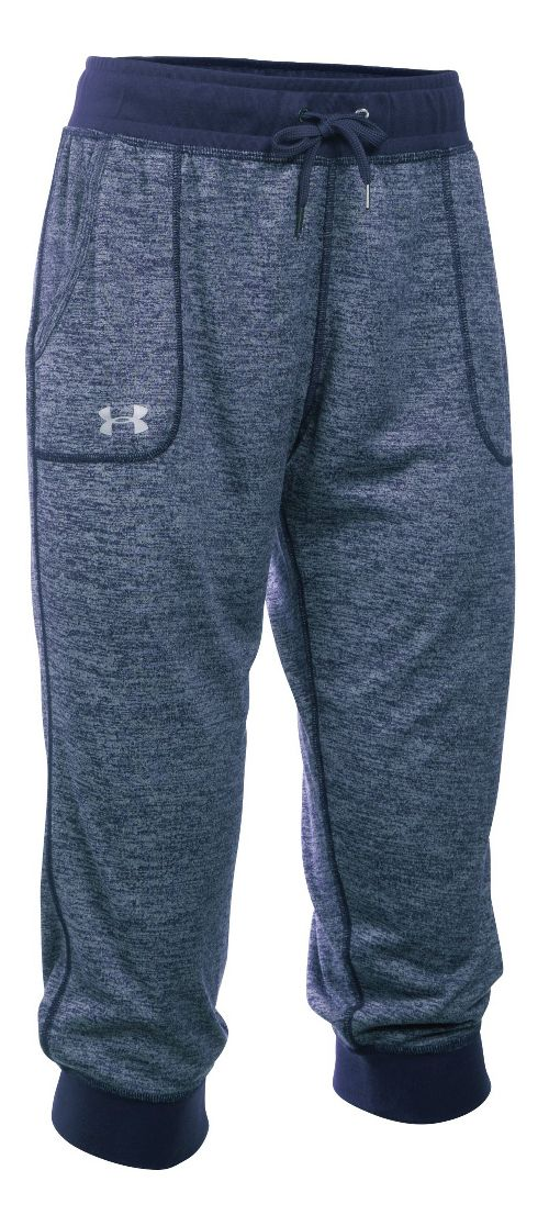 Womens Under Armour Tech Capri Pants - Midnight Navy L
