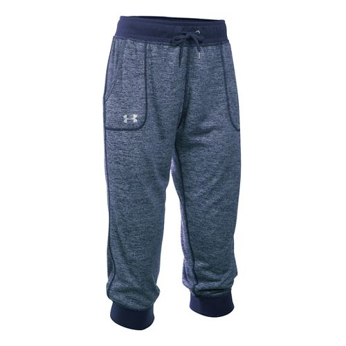 Womens Under Armour Tech Capri Pants - Midnight Navy S