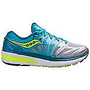 Womens Saucony Hurricane ISO 2 Running Shoe - Blue/Citron 12