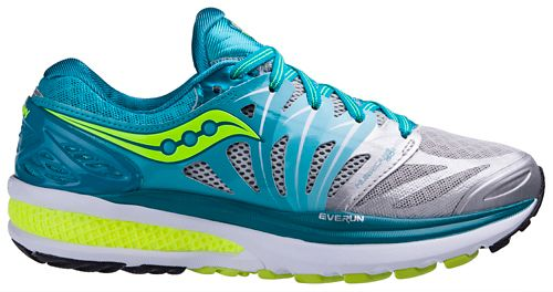 Womens Saucony Hurricane ISO 2 Running Shoe - Blue/Citron 7
