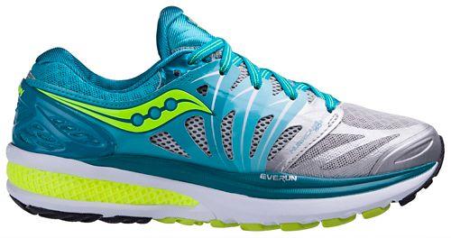 Womens Saucony Hurricane ISO 2 Running Shoe - Blue/Citron 7.5