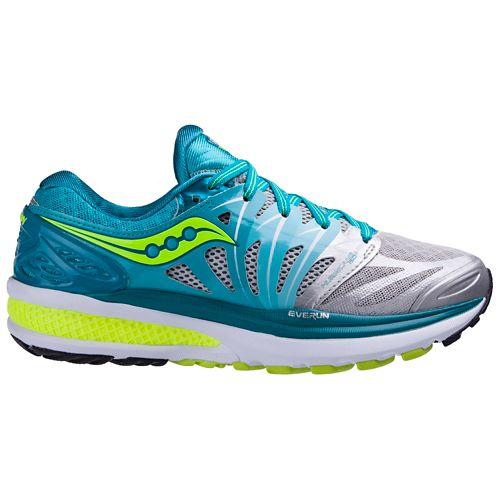 Womens Saucony Hurricane ISO 2 Running Shoe - Blue/Citron 10.5