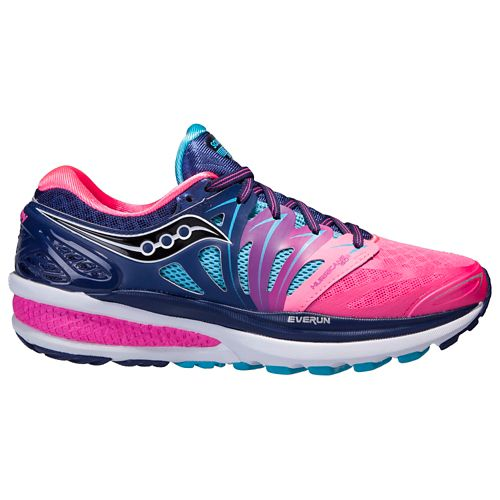 Womens Saucony Hurricane ISO 2 Running Shoe - Blue/Pink 7