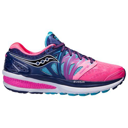 Womens Saucony Hurricane ISO 2 Running Shoe - Blue/Pink 8.5