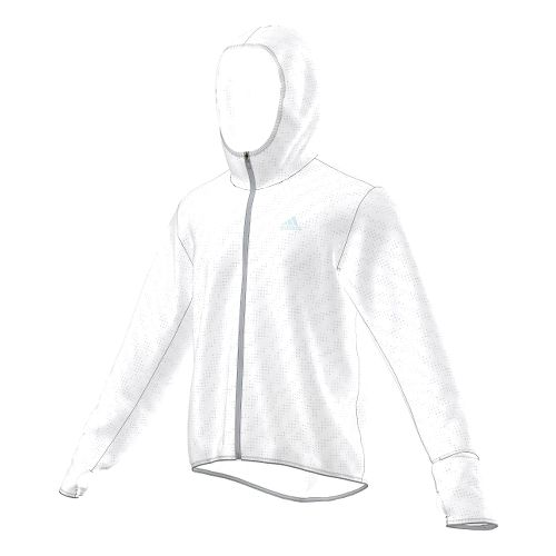 Mens adidas Kanoi Transparent Outerwear Jackets - WHITE XL
