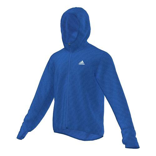 Mens adidas Kanoi Transparent Outerwear Jackets - BLUE M