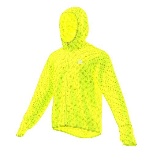 Mens adidas Kanoi Transparent Outerwear Jackets - Solar Yellow S