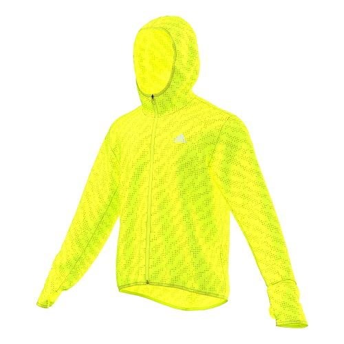 Mens adidas Kanoi Transparent Outerwear Jackets - Solar Yellow XL