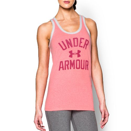 Womens Under Armour Favorite Legacy Sleeveless & Tank Technical Tops - Harmony Red L