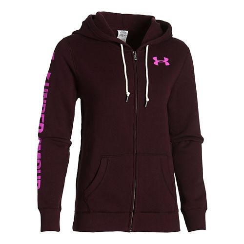 Womens Under Armour Favorite Fleece Full-Zip Hoodie & Sweatshirts Technical Tops - Ox ...