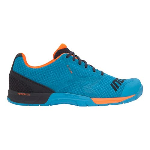 Mens Inov-8 F-Lite 250 Cross Training Shoe - Blue/Grey/Orange 9.5