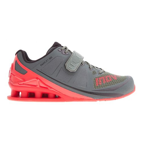 Mens Inov-8 FastLift 325 Cross Training Shoe - Dark Green/Red 10.5