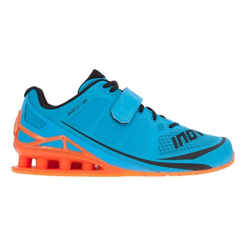 Mens Inov-8 FastLift 325 Cross Training Shoe - Blue/Grey/Orange 14