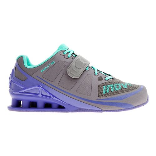 Womens Inov-8 FastLift 325 Cross Training Shoe - Dark Grey/Purple 10.5