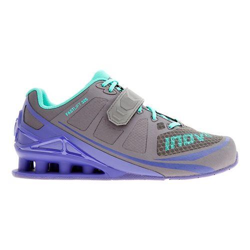 Womens Inov-8 FastLift 325 Cross Training Shoe - Navy/Purple/Teal 10.5