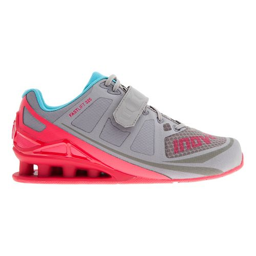 Womens Inov-8 FastLift 325 Cross Training Shoe - Grey/Berry/Blue 10.5