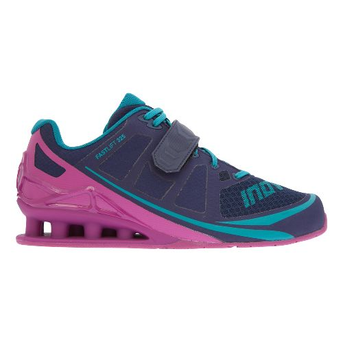 Womens Inov-8 FastLift 325 Cross Training Shoe - Navy/Purple/Teal 10.5